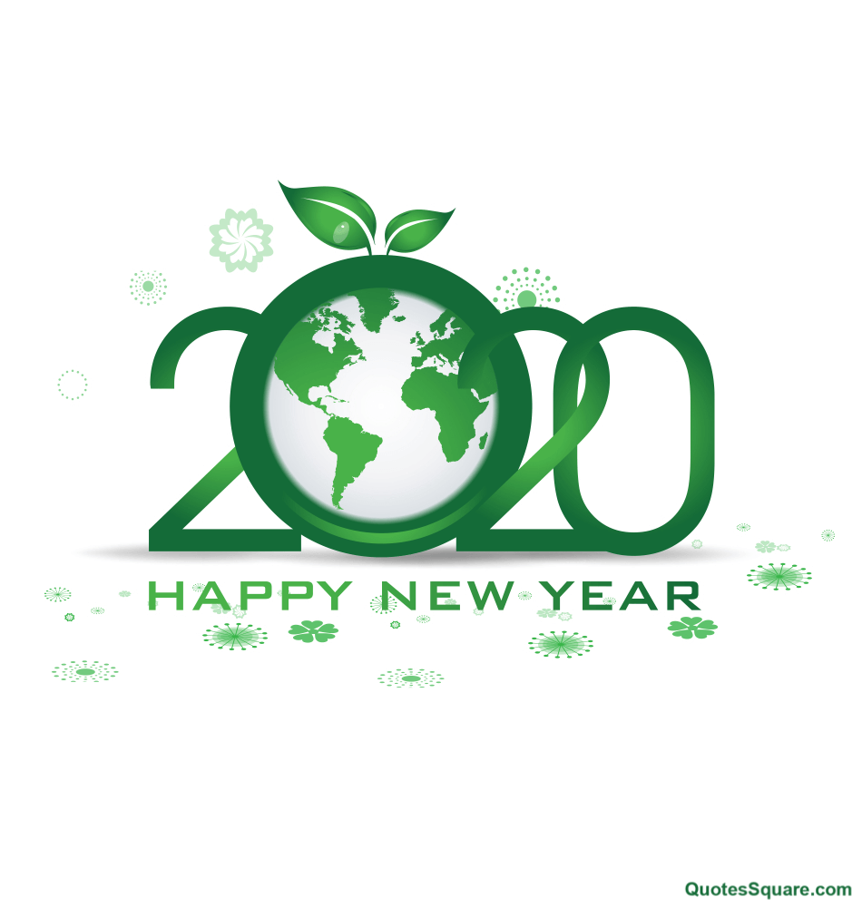 happy new year quote happy new year go green greeting
